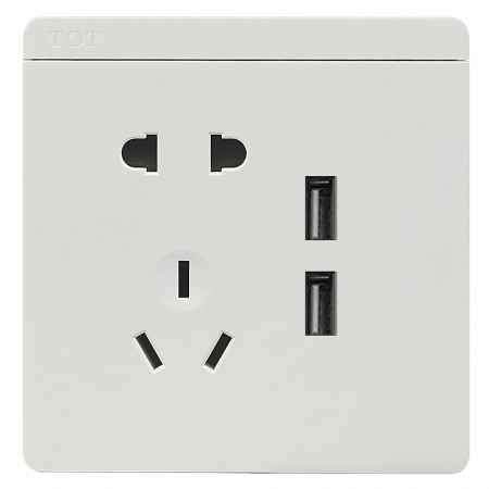 托泰電器五孔USB